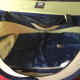 Baby Travel cot/tent never used, suitable from birth to 3yrs