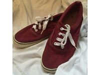 Red Canvas Shoes UK6