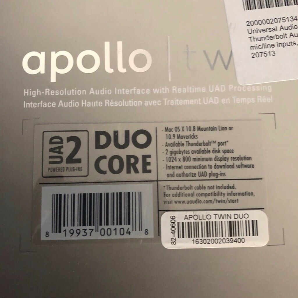 Universal Audio Apollo Twin Duo with additional +£700 purchased plugins |  in Earley, Berkshire | Gumtree