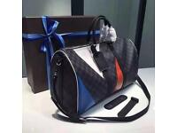 Louis Vuitton KEEPALL BANDOULIÈRE 45 REGATTA lv designer bag 360ono