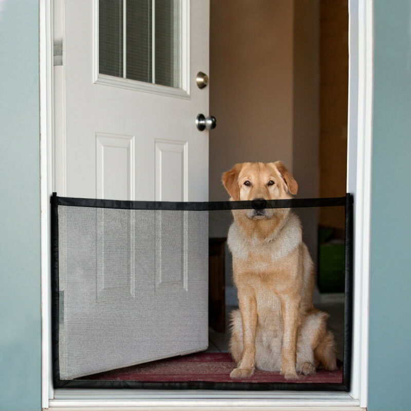 Large Pet Dog Baby Safety Gate Mesh Fence Guard Home Kitchen