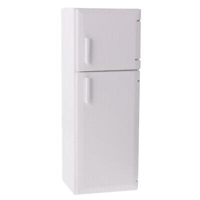 Dollhouse Miniature White Holz Kühlschrank Küche Zubehör Maßstab 1:12 ()