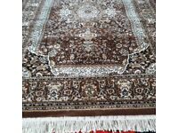 ORIENTAL STYLE PATTERN RUG, 120X170 CM, NAVY/BLUE, RED, L/BLUE, BROWN, PRUPLE, EASY TO CLEAN/MOVE