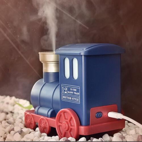 Creative Train Shaped Ultrasonic USB Air Humidifier Mini Aroma Diffuser Blue