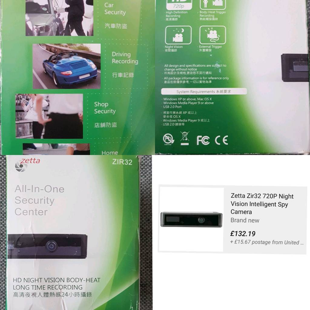 Mini security system (zettain ManchesterGumtree - Small camera for cars, homes and shopsHigh quality recordingEasy and ready to useNewOriginal price £132