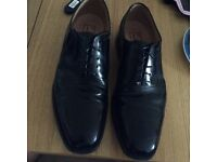 Loake Goodyear welted stud rubber sole shoe size 10 black