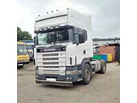 Left hand drive Scania R124L 400 TOPLINE trailer head / tractor unit. MOT till 2017. Low miles.