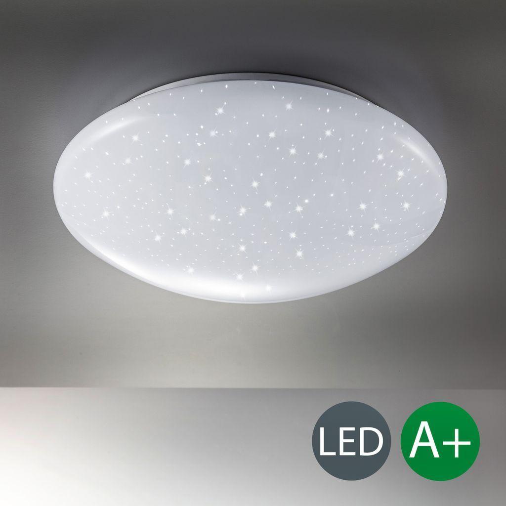 B.K.Licht LED Deckenleuchte Decken-Lampe Sternenlicht Glitzereffekt Sternenlampe