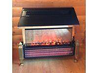 Lymington Radiant Fuel Effect Electric fire 3 bar heater + flame illuminated coals. Black. Dimplex.