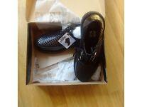 TUK leather creepers new, unisex. UK size 7. £40