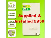 HIGH EFFICIENCY 'A' RATED COMBI BOILER SUPPLIED & FITTED £950-ANNUAL SERVICE £45-GAS SAFE REGISTERED