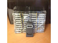 20 New iPhone 5 black leather cases (joblot)