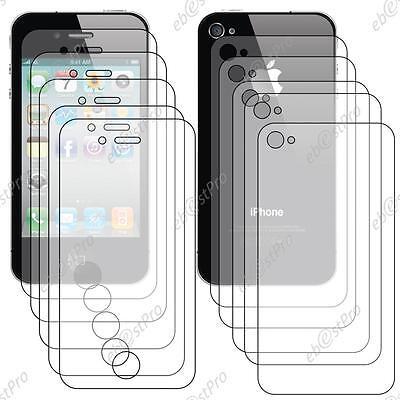10 Film Protection Intégrale Cristal iPhone 4 4S 5 Avant Recto 5...