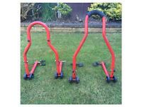 2x Motorcycle Axle / Paddock Stands