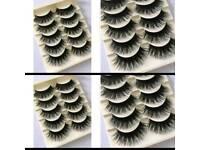 5 Pairs Fashion Natural Make up Long Cross Fake Eye Lashes Handmade Thick Black Beauty