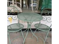SMALL ROUND TABLE & TWO CHAIRS