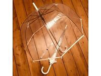 Brand New Clear Dome Wedding Umbrellas - Two available!
