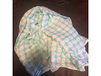 Turquoise scarf with white spots *new*