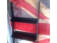Black 5 tiered bookcase