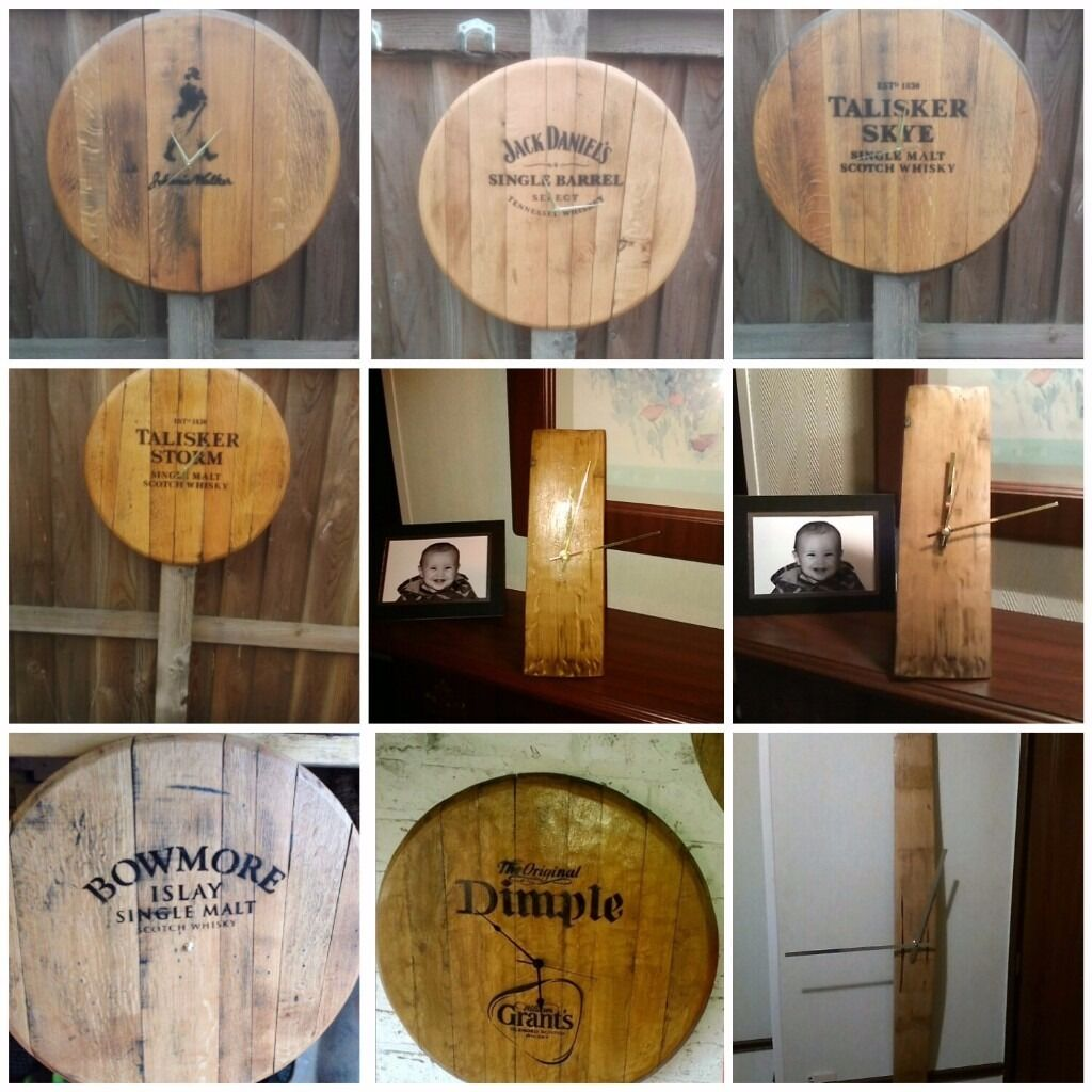 Whisky clocksin GlasgowGumtree - Whisky clocks Hand made from recycled oak whisky barrel lids An ideal for presents £45 each call Walter on 07930651440 Other logos available just ask