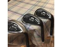 3 Cleveland 588 RTX Rotex face wedges, 58, 56 and 52.