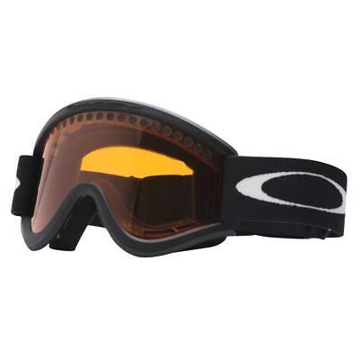 Oakley 02-400 E FRAME Matte Black w/ Persimmon Mens Boys Snow Ski Goggles .
