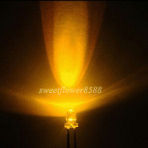 100ps-3mm-5000mcd-Yellow-Ultra-Bright-LED-Lamp-Light-Free-Shipping