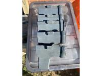 Anthracite grey Square Gutter length (L)0.14m x 5