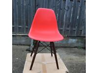 Retro Charles Eames style chairs X 4 all boxed and new various colours