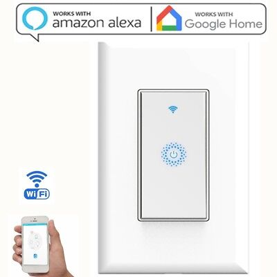 Smart Wi Fi Light Switch In Wall Works With Amazon Alexa Google Home Android Ios