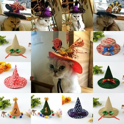 Halloween Witch Hat For Dog Cat Pet Party Fancy Dress Up Costume Accessories](Cat Accessories Halloween)