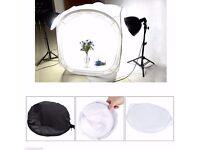 Photo Studio Shooting Tent Softbox Cube Box Kit + 4 Backdrops