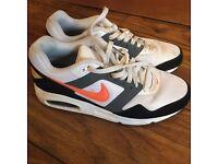 Nike Men's Air Max Navigate White Orange Black - Size 8 UK