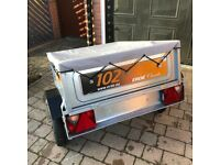 ERDE 102 Tipping Trailer with Cover