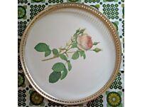 Woodmet rose-design tea tray - English 60s retro kitsch