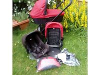 3in1 Joie travel system: Car seat, carry cot & pram