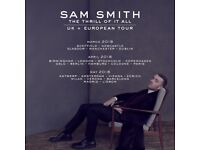 2 or 4 seated tickets to SAM SMITH – O2 ARENA – FRIDAY 6TH APRIL 2018