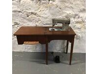 Mid Century Modern Singer Sewing Machine & Desk