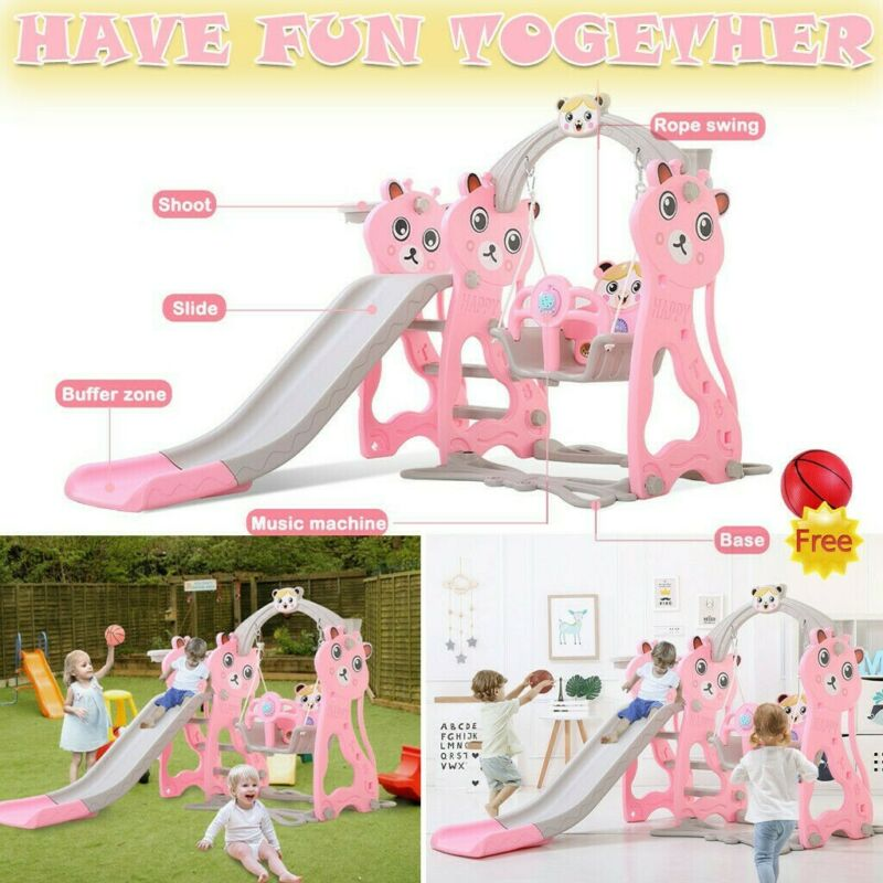 Playground Slide Set Play Slide Kids Backyard Swing set Play