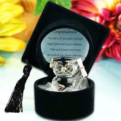 Ideas For Graduation Gifts (Graduation Black Hat with Crystal Owl for University Collage School Idea)