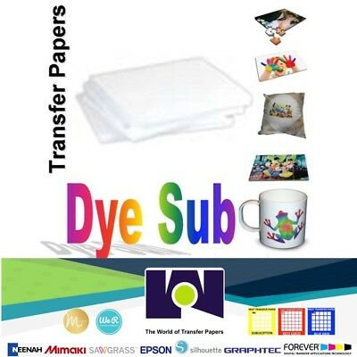 Dye Sublimation Transfer Paper For Sawgrass And Epson 100 Sheets 8.5x14 Per Pack