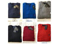 Men's Ralph Lauren iconic cable sweater size small to XXL £20 each