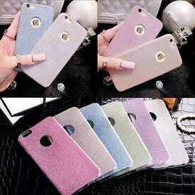 Luxury Bling Glitter Tpu Soft Gel Silicone case for iPhone.