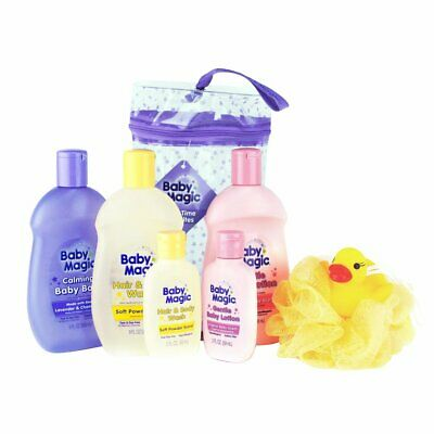 Baby Magic Bath Time Favorites Gift Bag 7 Piece Kit Ducky, Loofah & Discounts! Ducky Bath Time Gift
