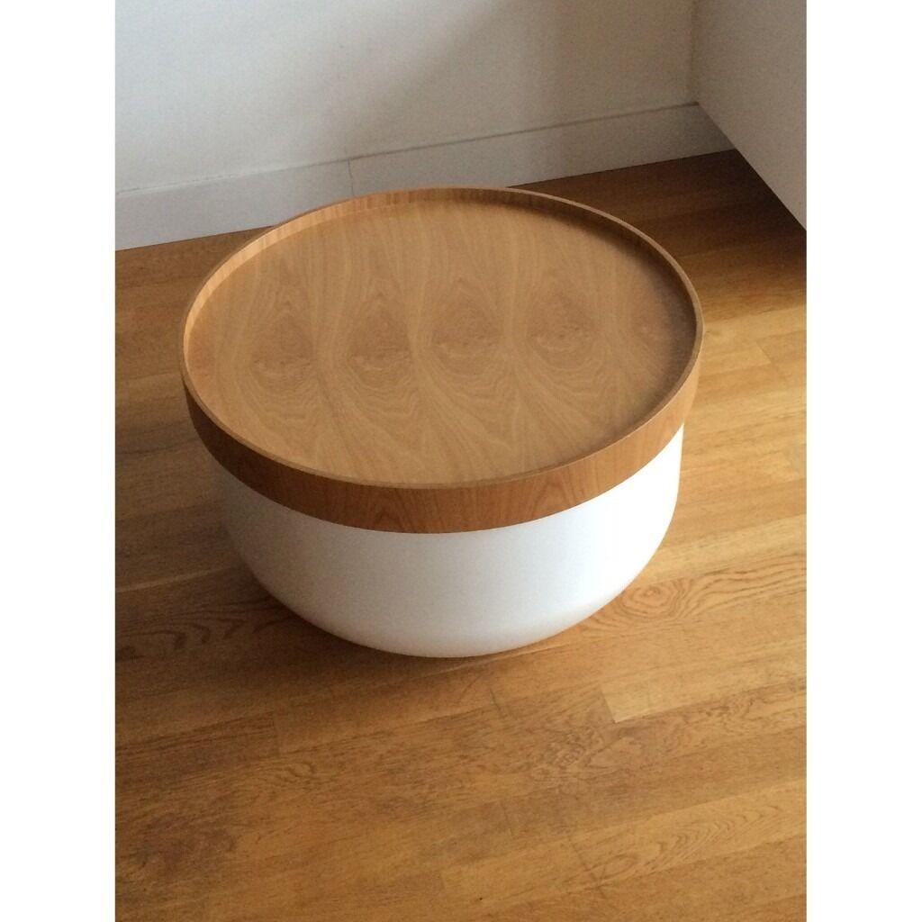 Habitate bert white storage coffee table in angel for Coffee tables gumtree london