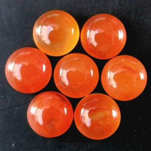 Wholesale Lot of 9mm Round Cabochon Natural Carnelian Loose Calibrated Gemstone