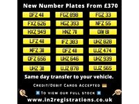 NEW Short NI Number Plate from £370 - Cherished Personal Private Registration plates (car,Van,Jeep)