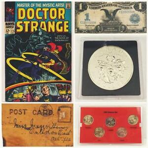 ONLINE AUCTION! HIGH VALUE GOODS! Collectibles, Banknotes, Coins, Stamps and Comic Books! Ends THURSDAY at 8pm EST!
