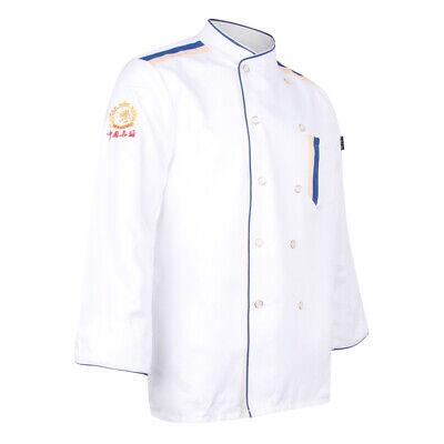 Restaurant Hotel Unisex Chef Long Sleeve Coat Jacket Uniform Cook Waiter Xl