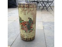 large Japanese vase handpainted